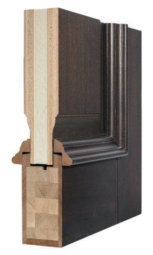 Деревянная входная дверь в разрезе okna-fresh.ru