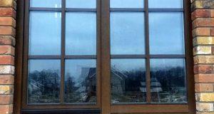 Деревянные окна из дуба с раскладкой okna-fresh.ru