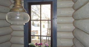 Деревянные окна дом бревно okna-fresh.ru